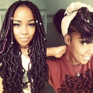 Goddess Locs With A Hint Of Purple