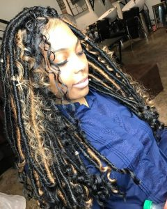 Messy Multi Colored Goddess Locs