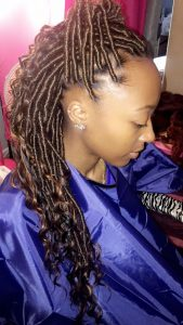Shiny Brown Goddess Locs