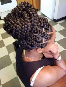 dookie braids high bun