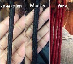 faux locs marley hair