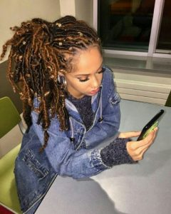 goddess locs side ponytail