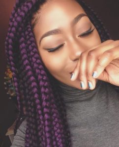 jumbo purple box braids