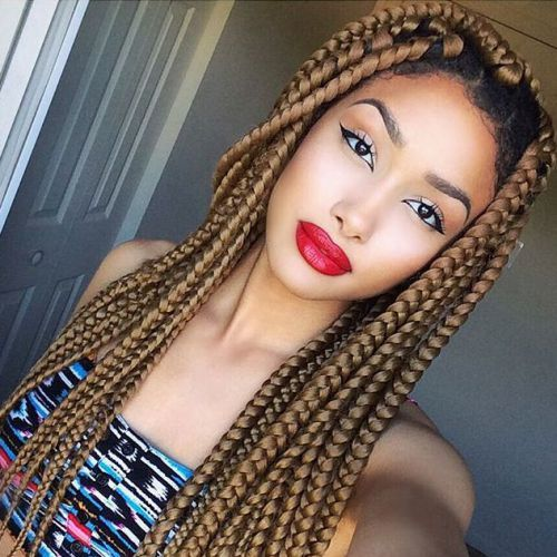 Purple Poetic Justice Braids 35 Dookie Braids Hairs...