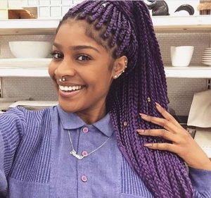 light purple box braids
