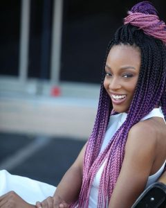 multicolor ombre box braids