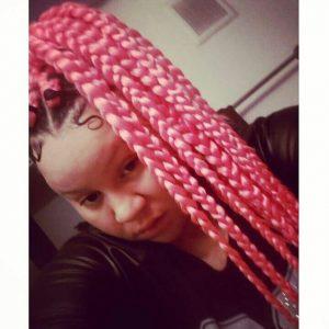 pink dookie braids