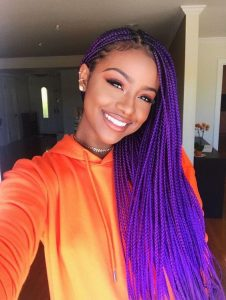 pretty purple braids