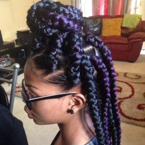 purple dookie braids