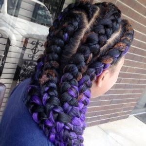 purple goddess braids