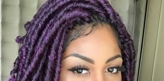 purple goddess locs