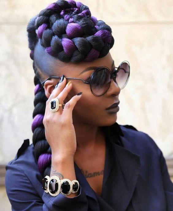 Purple Braids Styles: 35 Gorgeous Purple Braids Hairstyles