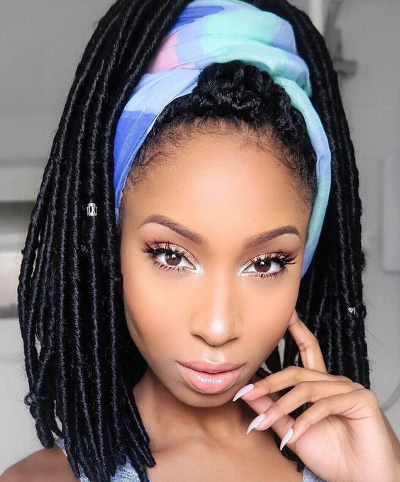 45 Short Faux Locs Hairstyles How To Style Short Faux Locs