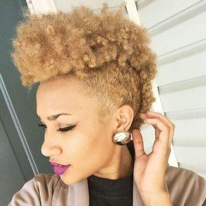 blonde frohawk