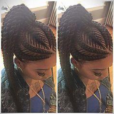 iverson braids ponytail