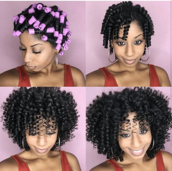 27perm Rods Natural Hairstyle For Medium Length Hair