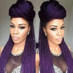 purple rope twists half up half down