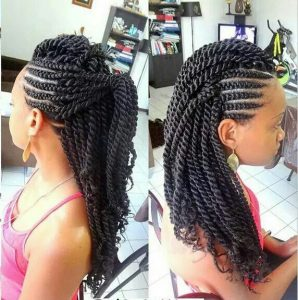 rope twists with cornrows