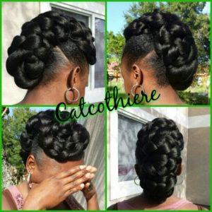 sleek braided frohawk