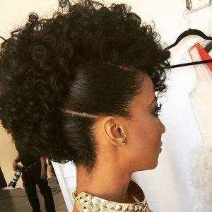 sleek curly frohawk