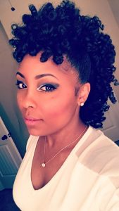 spiral curled frohawk
