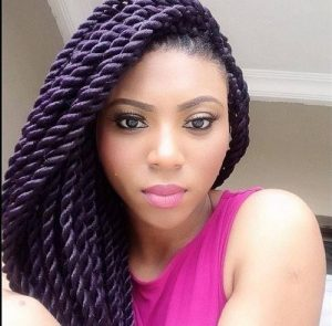 thick purple rope twists