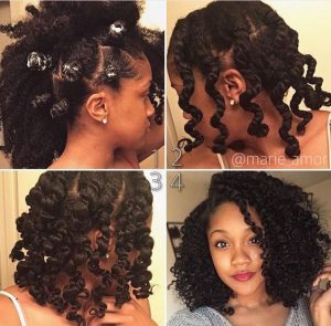 Bantu Knot Braid Out