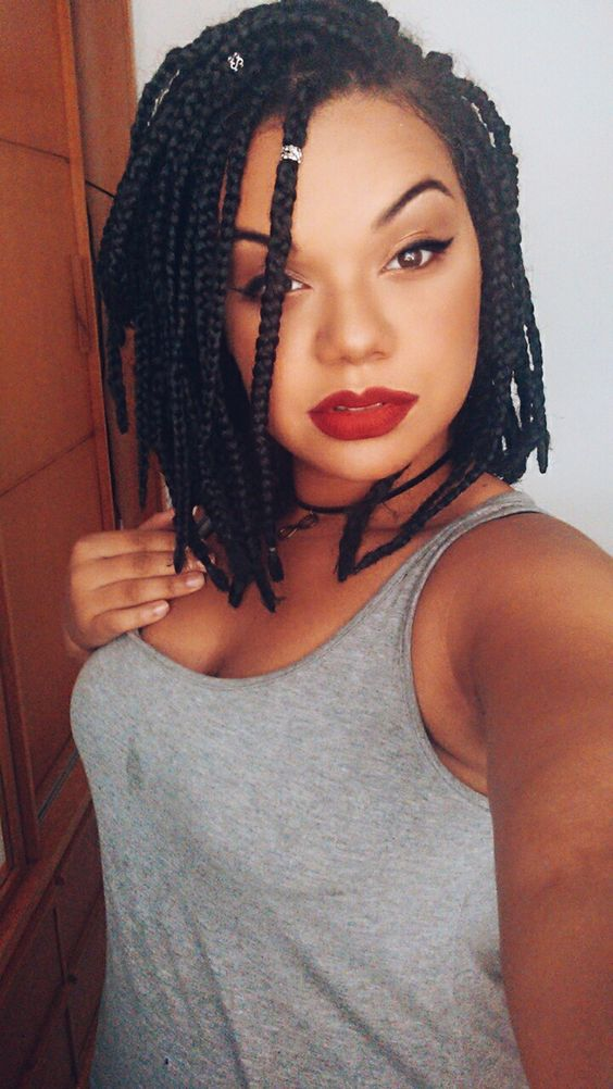 Short Box Braids 35 Gorgeous Short Box Braids Styles