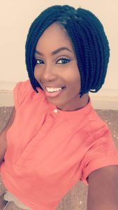 Box Braid Bob With Zig Zag Part