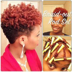 Braid Out Rod Set On Short Hair