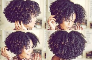 Braid Out With Colored Tips