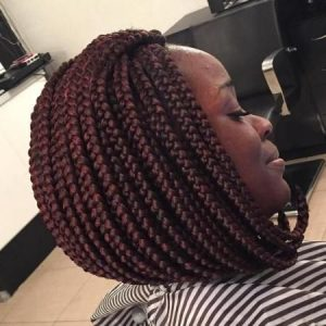Medium Sized Box Braid Stacked Bob