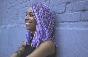 Short Lavender Box Braids