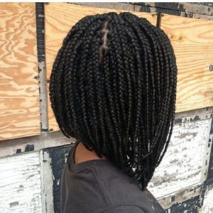 Stacked Box Braids Bob