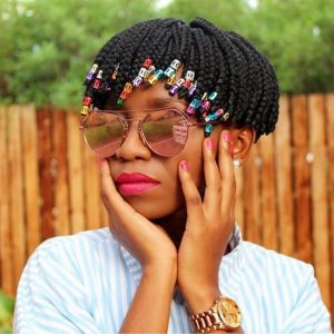 Ultra Short Box Braids With Beads