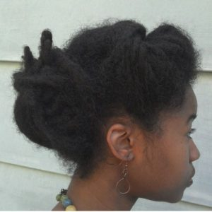 Afro Dreads Updo