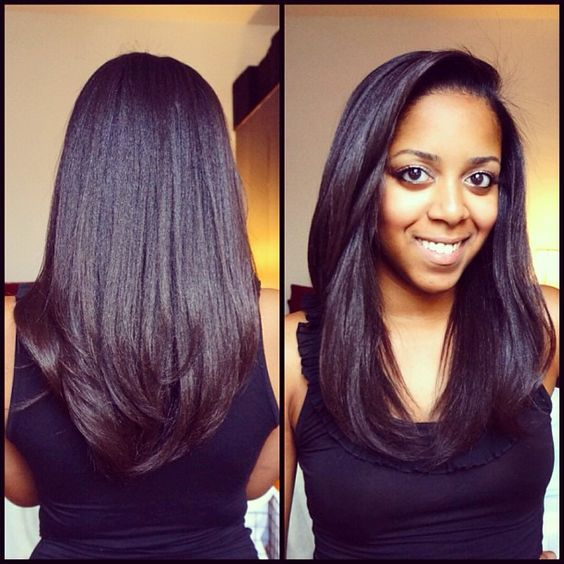 Dominican Blowout On Natural Hair Before And After