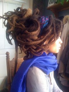Long Freeform Locs Updo