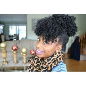 wash and go puff with bangs