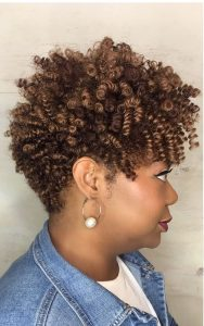 Golden Brown Tapered Crochet Braids