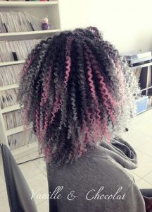 Grey and Pink Crochet Braids