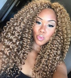 Long Blonde Crochet Braids