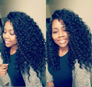 Long Crochet Braids With Side Parts