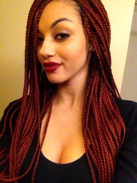 30 Awe Inspiring Red Box Braids Hairstyles You Will Love