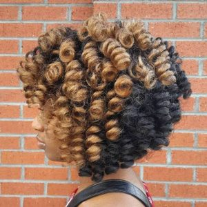 Two Toned Crochet Braid Bob