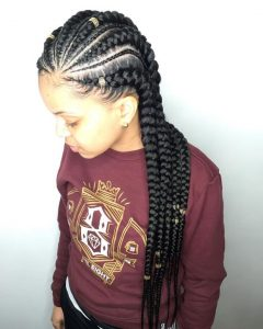 Beaded Feed In Braids