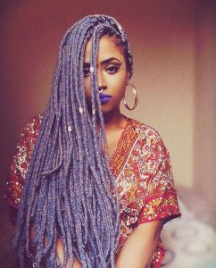 Lavender Box Braids