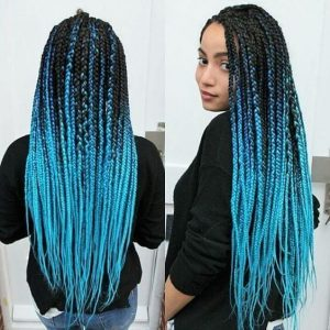 Ombre Turquoise Box Braids