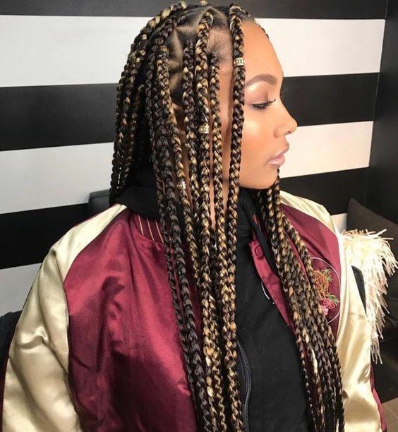 Box braids color 30