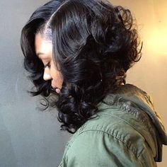 Chic Curly Sew In Bob